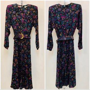 Liz Claiborne Vintage 80's Floral Dress
